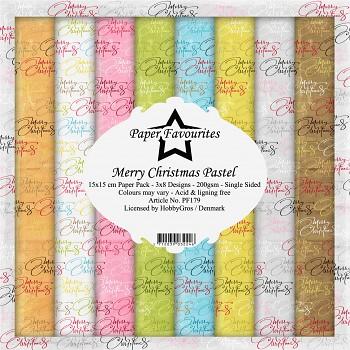 Merry Christmas Pastel / 6x6 / 24ks / Sada papierov