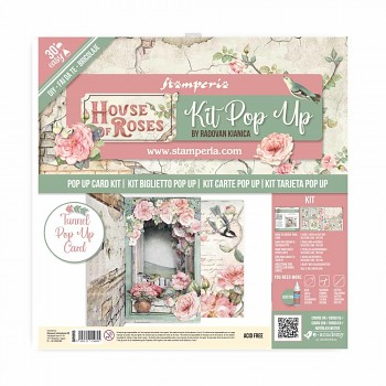Stamperia Pop Up Kit 12x12 Inch House of Roses Tunnel