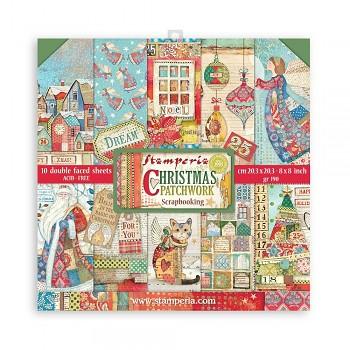 """Christmas Patchwork /  8x8"""" / zestaw papierów"""