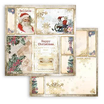 Scrapbookový papier / 12x12 / Romantic Christmas Cards Santa Claus