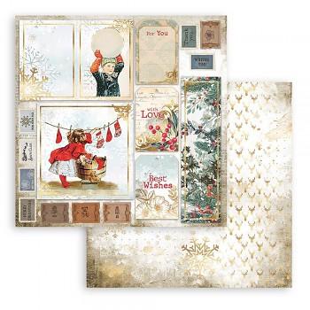 Scrapbookový papier / 12x12 / Romantic Christmas Cards