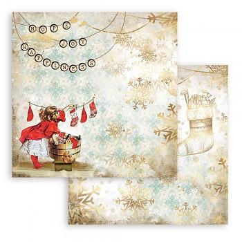 Scrapbookový papier / 12x12 / Romantic Christmas Socks