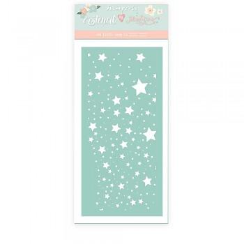 Šablóna / 12x25cm / Christmas Rose Stars