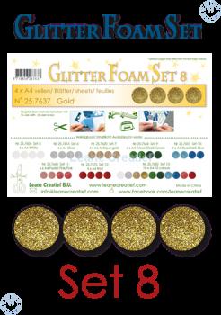 Sada Moosgummi 2mm A4 / Glitter Gold / 4ks