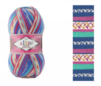 Superwash Comfort Socks / 100g / 7654