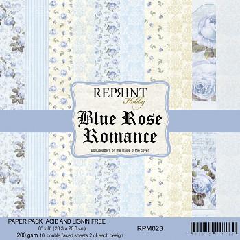 """Blue Rose Romance / 8x8"""" / 10 ks / sada papierov"""