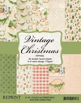 Vintage Christmas / 6x6 / 20ks / Sada papierov