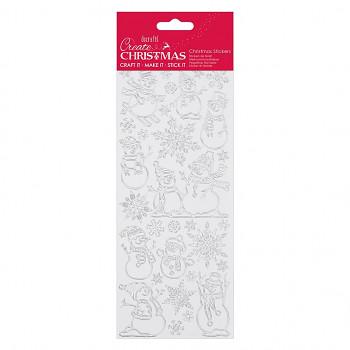 Obrysové samolepky / Create Christmas / silver