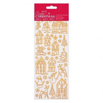 Obrysové samolepky / Christmas Icons Copper