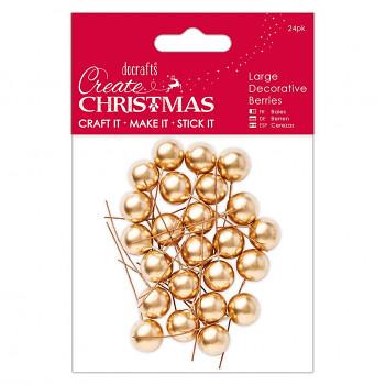 Vianočné dekoračné guličky 20mm/ 24ks / zlaté