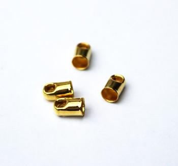 Koncovka guľatá / 20 ks / 3,2mm / zlato