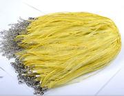 Náhrdelník organza + voskovaná šnúrka / žltý