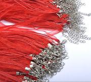 Náhrdelník organza + voskovaná šnúrka / červený