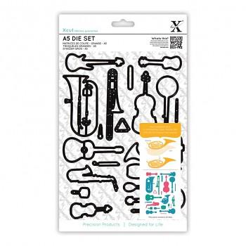 Kovové šablóny - Musical Instruments