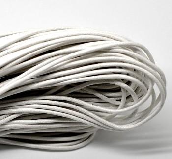 Voskovaná šnúrka 2mm biela