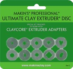 Clay extrudér - Sada diskov C