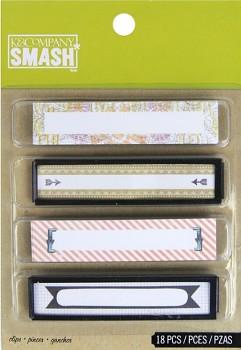 SMASH - štítky / Binder Clips