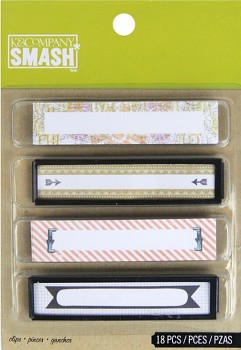 SMASH - štítky / Binder Clips