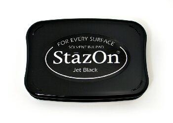 StazOn - atramentová poduška / Jet Black