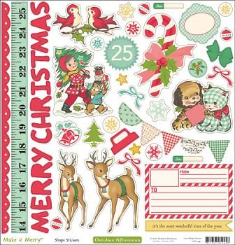 Make it Merry / naklejki / 12x12