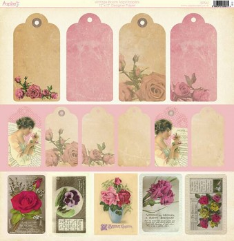 Vintage Bloom - Tags / Toppers