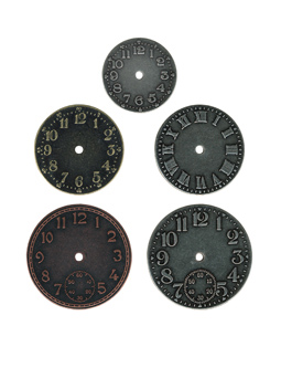 TIMEPIECES, WATCH FACES 5 PER PK