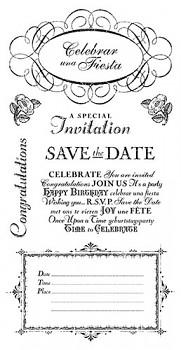 Cling razítka G45 / Time to Celebrate 3