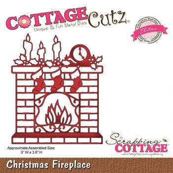 Kovová šablóna - Christmas Fireplace (Elites)