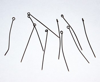 Eyepins / 10pcs / 50mm / old copper