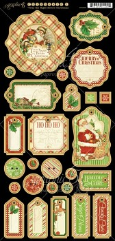 Twas the Night Before Christmas Chipboard / kartónové výrezy