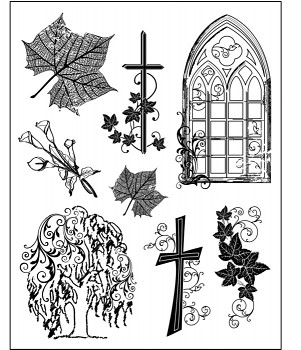 Silicone Stamp / D38 / Condolence / 14 x 18 cm
