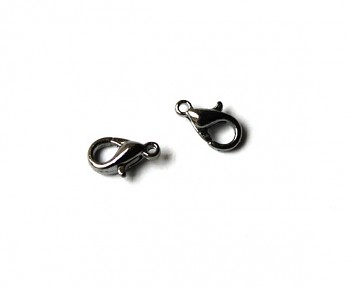 Lobster Claw Clasp / 20 pieces / 10 mm / Silver