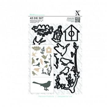 Kovové šablóny A5 - Mixed Birds / 14ks