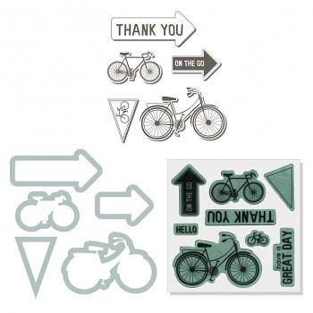 Framelits s razítkami / 5ks / Bicycle