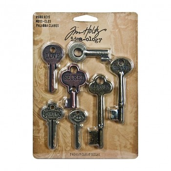 Advantus Tim Holtz word keys / 7pcs