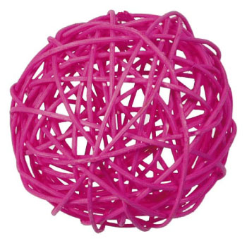 Rattan ball 3 cm / 6 pcs / fuchsia