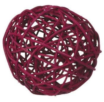 Rattan ball 8 cm / 3 pcs / bordo