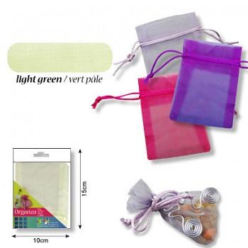 Organza bag 9x12cm / light green