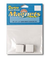 Small magnets 18x18mm, sticky / 4pcs