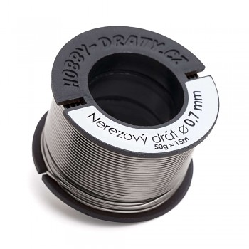 stainless wire 0,7 / 50g