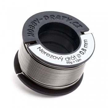 stainless wire 0,8 / 50g