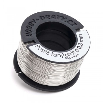 silver plated wire 0,3 / 50g