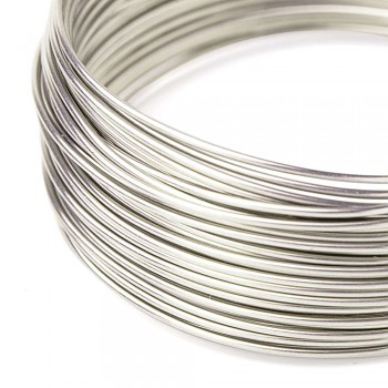 Silver plated wire 0,6 /5m