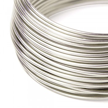 Silver plated wire 0,8 /5m