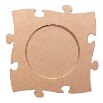 MDF fotorámik puzzle kruh / 24 x 24 cm