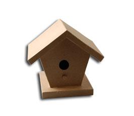 Vtáčia búdka z papier maché / 15x17x18cm