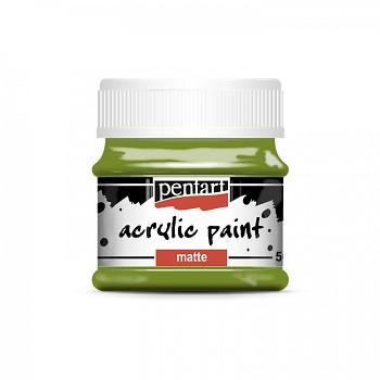 Pentart akrylová farba matná / olivová