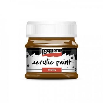 Pentart akrylová farba matná / chestnut