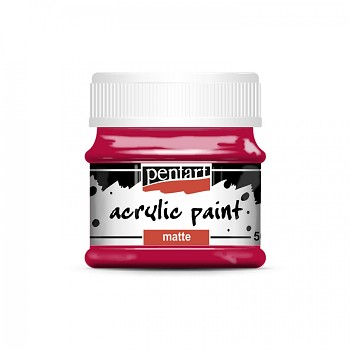 Pentart akrylová farba matná / carmin