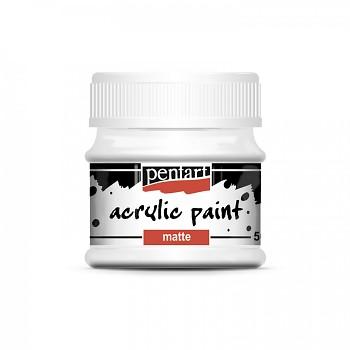 Pentart akrylová farba matná / white